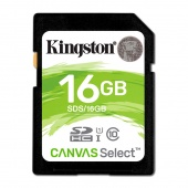 Kingston Canvas Select SDHC 16Gb Class 10, UHS-I