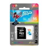 Silicon Power Elite microSDHC 16Gb Class 10 UHS-I, SD adapter
