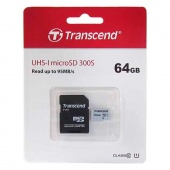 Transcend 300S microSDXC 64Gb Class 10, UHS-I SD adapter